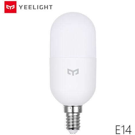 LED Yeelight inteligente bombilla de iluminacion 2700-6500K 450LM 4W E14 AC220V base de la vela de la lampara de malla Edicion Aplicacion y control de la voz, la base E14