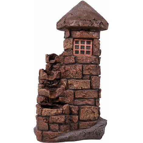 LED zone extérieure printemps fontaine ornementale tour eau caractéristique cascade en pierre optique jardin Harms 318819