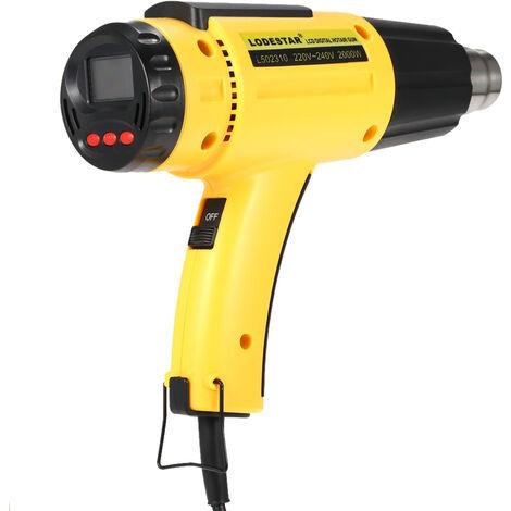 Leda affichage numerique temperature reglable pistolet a Air chaud Tube a Air chaud portable seche-cheveux petit standard europeen L502310