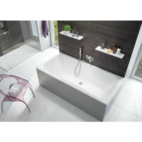 Leda - Baignoire rectangle 1900x900 mm 355 L blanc - GARBO