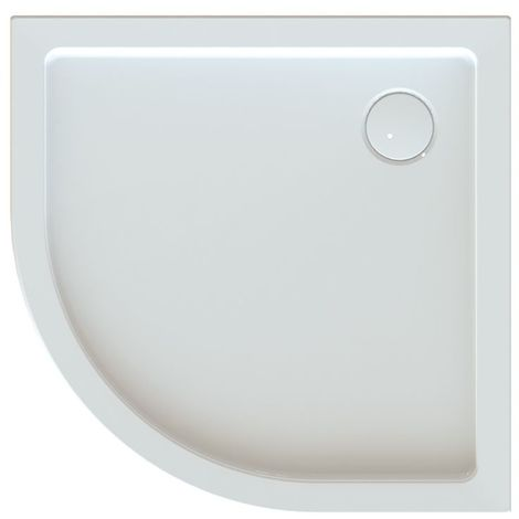 Leda - Receveur de douche 1/4 rond 800x800mm Profondeur 25mm blanc - FRISBEE