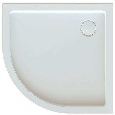 Leda - Receveur de douche 1/4 rond 800x800mm Profondeur 50mm blanc - FRISBEE