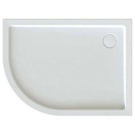 Leda - Receveur de douche 1/4 rond asymétrique droit 1200x900mm Profondeur 50mm blanc - FRISBEE