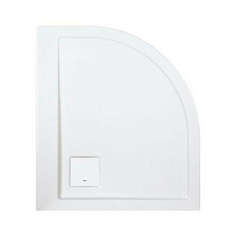 Leda - Receveur de douche asymétrique droit 1/4 rond 900x800 mm blanc - SPACE LINE