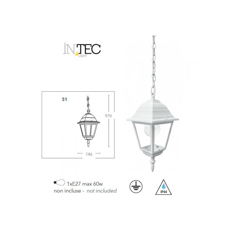 Lanterna sospesa bianca a tenuta stagna ROMA - SHOP-DAY