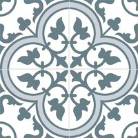 Ledbury Marina Blue Pattern Tiles - 450x450x10mm