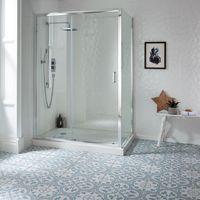 Ledbury Powder Blue Pattern Tiles - 450x450x10mm