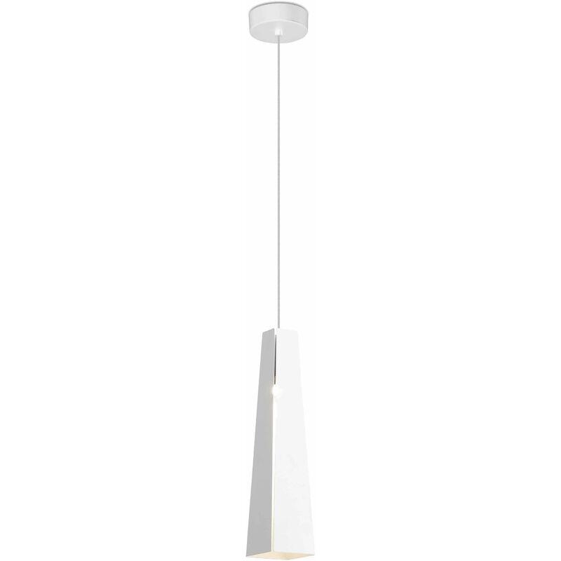 Weiß / weiße Pendelleuchte Pluma - 08-FARO