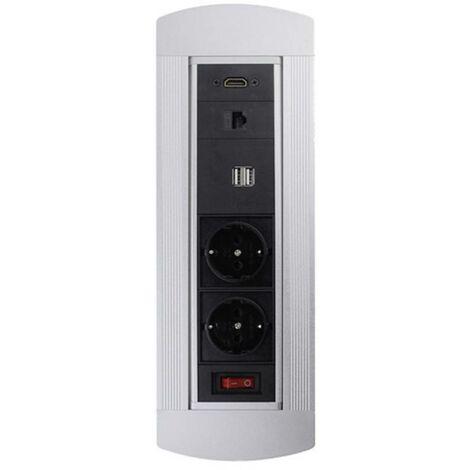 Relativ LEDmaxx 105950 Einbau-Steckdose mit HDMI, mit Schalter, mit USB GZ01