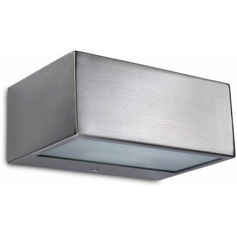 Leds-C4 - 1 Light Outdoor Wall Light Stainless steel AISI 316 IP44