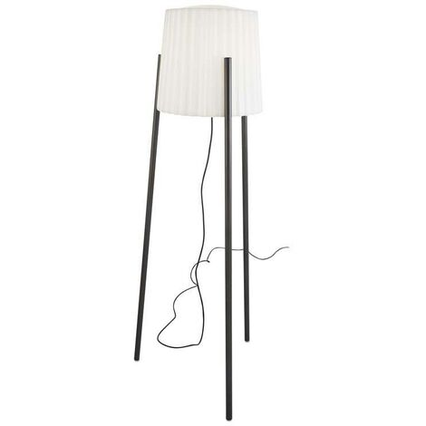 Leds-C4 Barcino - 1 Light Adjustable Outdoor Floor Lamp Urban Grey with White Shade IP65, E27