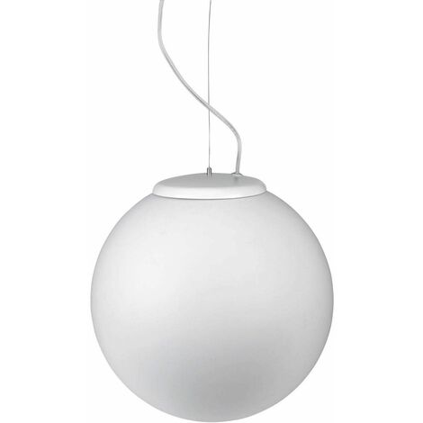 Leds-C4 Cisne - 1 Light Small Outdoor Globe Ceiling Pendant Light White IP44, E27
