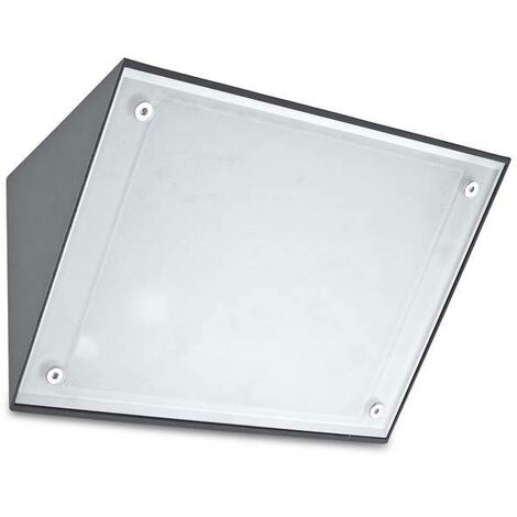 Leds-C4 Curie - Outdoor LED Wall Downlight Urban Grey 16.2cm 3240lm 4000K IP65