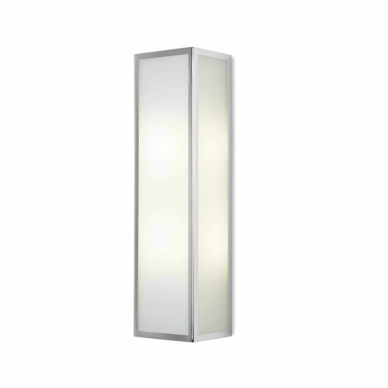 Image of 05-leds C4 - Flow wall lamp, chrome and glass, rectangular 40 cm