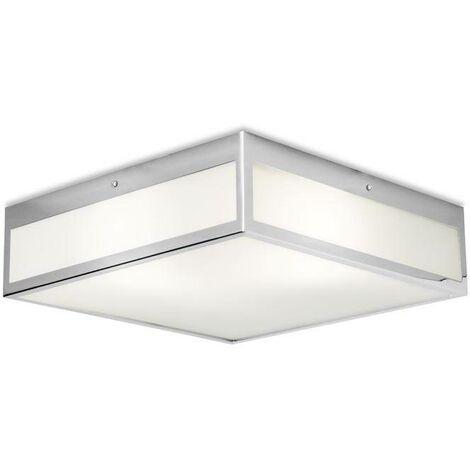Leds-C4 Flow - 3 Light Small Bathroom Ceiling Light Chrome IP44, E27