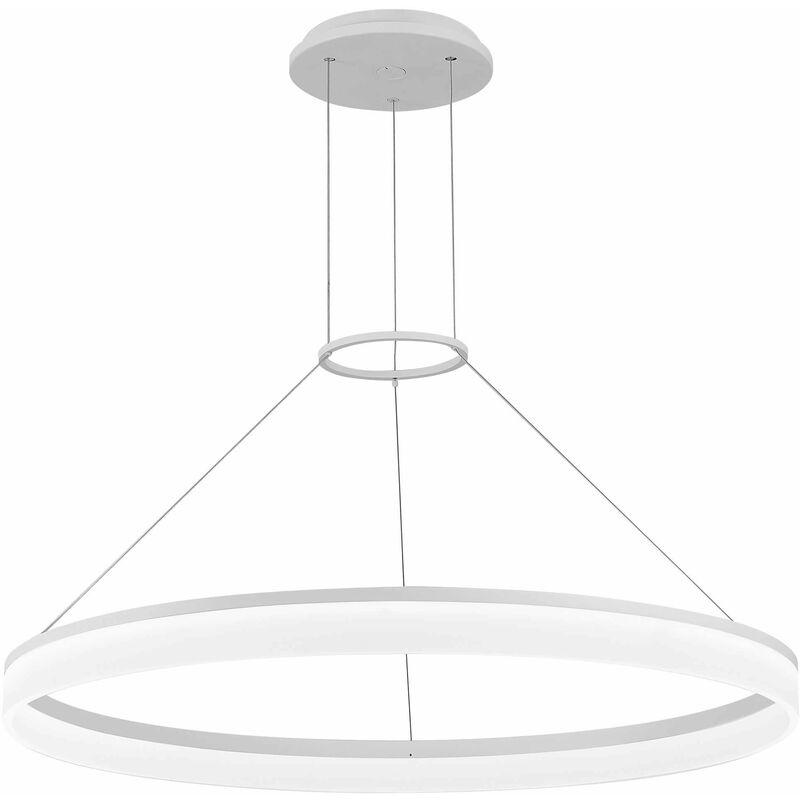 Image of 05-leds C4 - Circ pendant lamp, aluminum, matt white, 60 cm