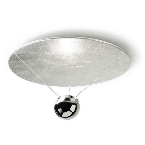 Leds-C4 GROK - LED 1 Light Dimmable Semi Flush Ceiling Light Silver