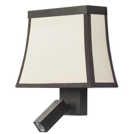 Leds-C4 - Indoor Wall Light Brown with Reading Lamp