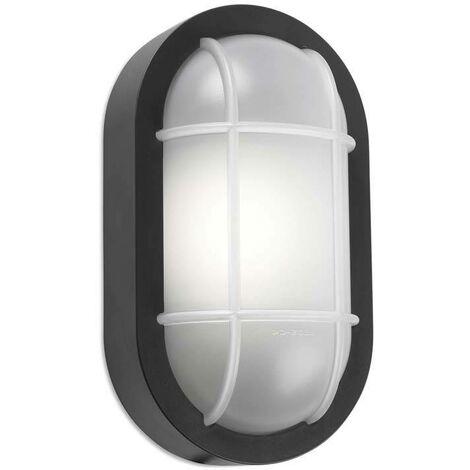 Leds-C4 Turtled - Outdoor LED Bulkhead Wall Light Grey White 701lm 3000K IP65
