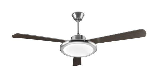 Leds C4 Ventilateur De Plafond Lumineux Bahia Nickel