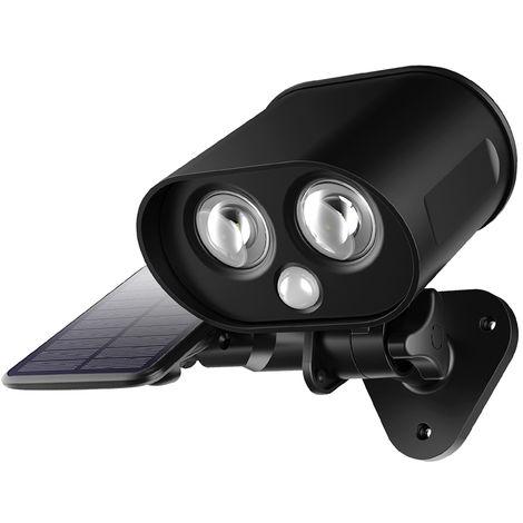 LEDs Solar Powered Split Light Separated Motion Sensor Wall Lamp 360