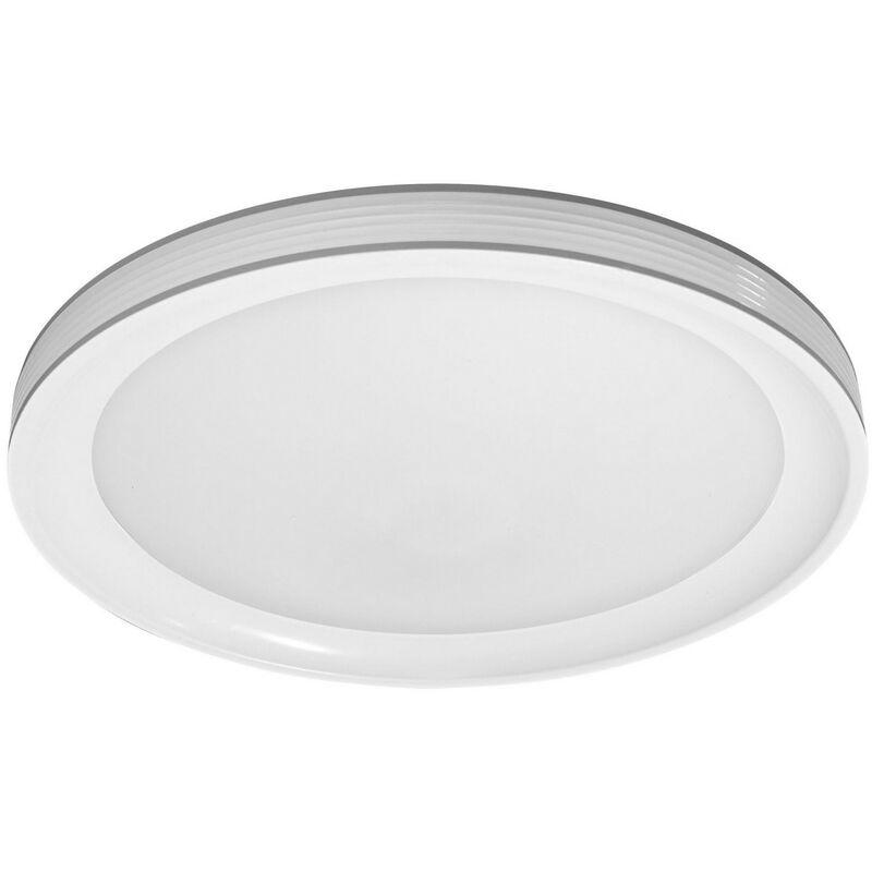 SMART+ LED FRAME ROUND Wand- und Deckenleuchte Tunable White WiFi Ø 49,5 cm Kunststoff Weiß, 486508 - Ledvance
