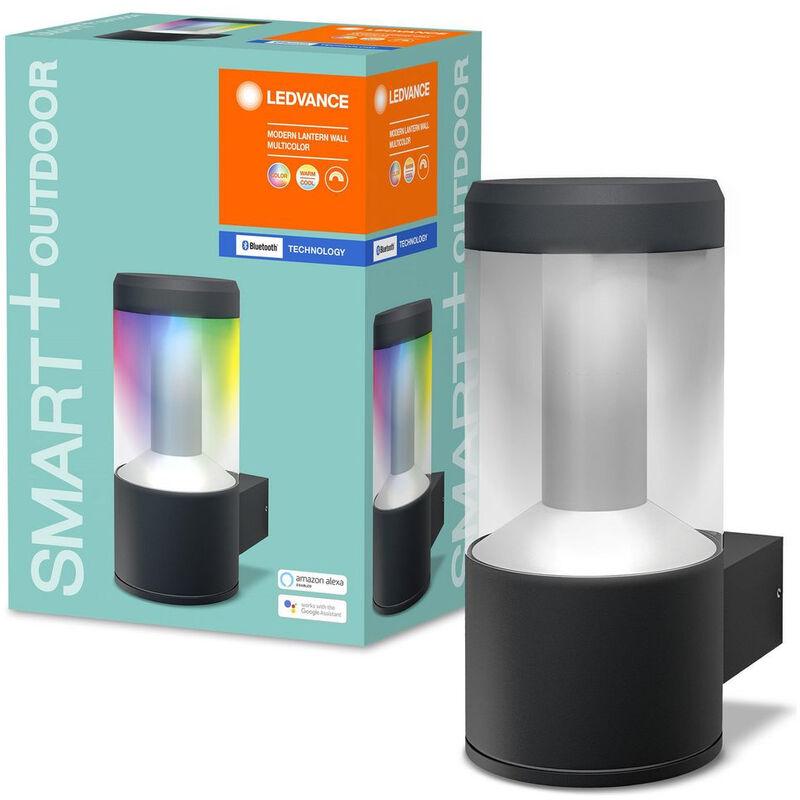 SMART+ Bluetooth LED Wandleuchte in Dunkelgrau 12W 650lm IP44 RGBW