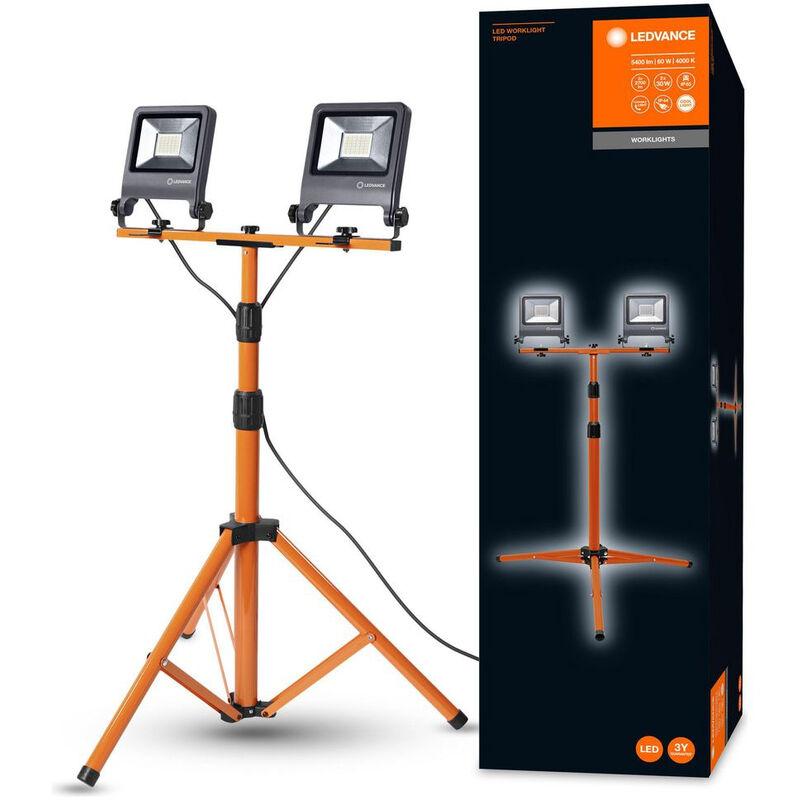 LED Strahler in Orange und Dunkelgrau 60W 5400lm IP65