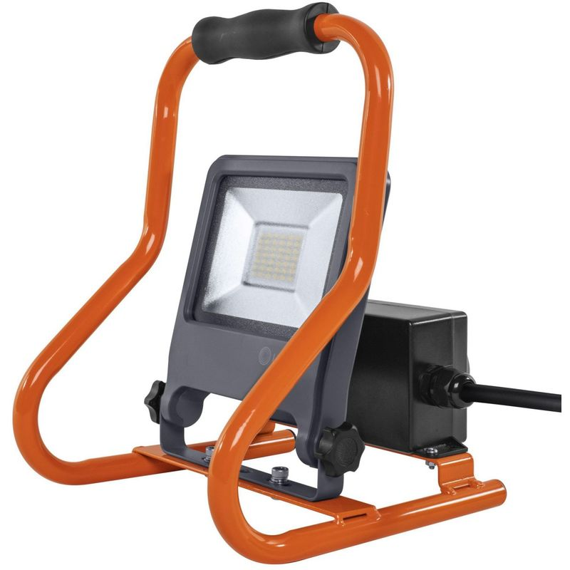 WORKLIGHT SOCKET 30 W LED Mobiler Strahler Kaltweiß 30,7 cm Kunststoff Dunkelgrau, 321328 - Ledvance