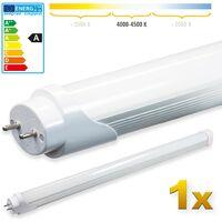 1400lm- montagefertig LEDVero 2x SMD LED R/öhre 90 cm inklusive Fassung in neutralwei/ß Lichtleiste mit 14 W Leuchtstoffr/öhre T8 G13 Tube milchige Abdeckung