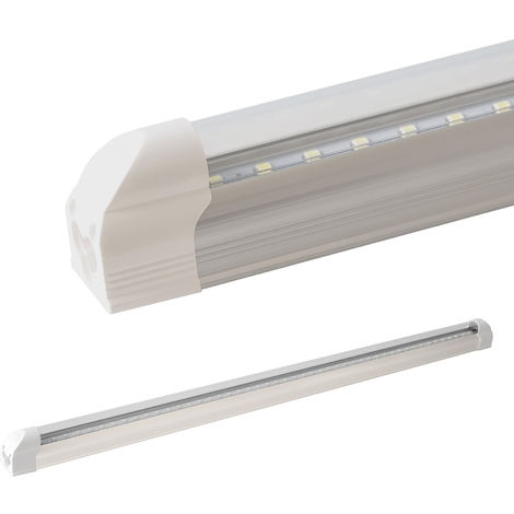 LEDVero réglettes lumineuses T5 120cm - blanc chaud - transparent / Tube fluorescent