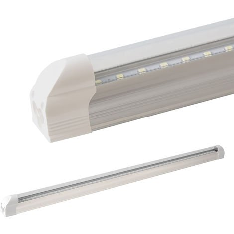 LEDVero réglettes lumineuses T5 150cm - blanc chaud - transparent / Tube fluorescent