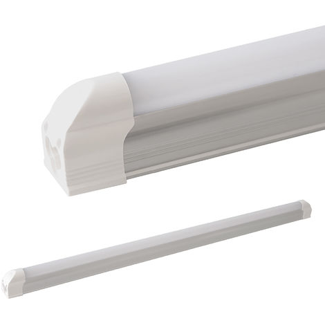 LEDVero T5 LED tubo integrado mate - blanco cálido 60 cm - Tubos integrados