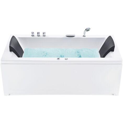 Left Hand Whirlpool Bath with LED White VARADERO