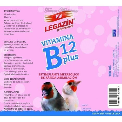 Legazín Vitamina B12 Plus 160 ml.