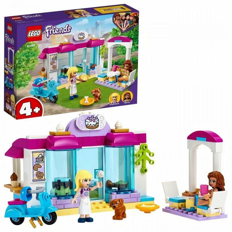 LEGO 41440 Friends La Boulangerie de Heartlake City Set de Jeu avec Les Minidolls Stéphanie et Olivia pour Enfant de 4 Ans et +