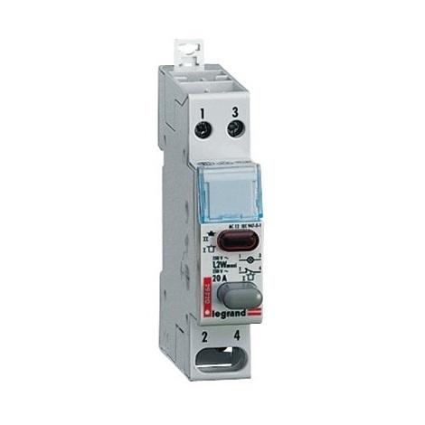Legrand 004464 Interrupteur Poussoir Lexic - dble fonct - 20A - 250V - 1 NF+voyant rouge