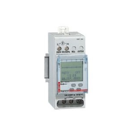 Legrand 004763 - Inter horaire programmable digital Lexic - auto - multifonction - 1 sortie 24V