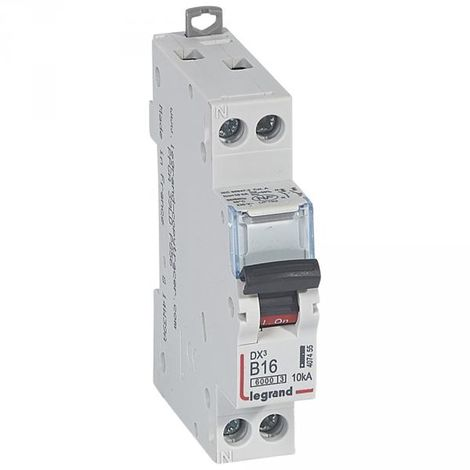 Legrand 006180 circuit breaker Magneto-thermal DX 6000 - Lexic to screw - Uni+N 230V~ 16A curv B