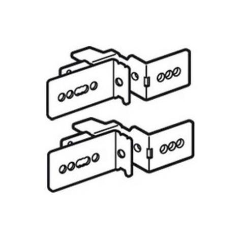 Legrand 020570 - 2 x Support fixation de goulotte Lina 25 - XL3 800/XL3 4000 - 24 mod