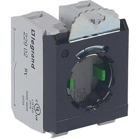 """main image of """"Legrand 022974 - Osmoz - Sous-ensemble bloc pour tête non lum. - à vis - 2NO et étrier 3 postes"""""""
