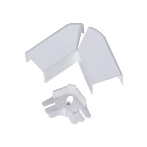 Legrand 030283 - Angle plat variable - pour moulure DLPlus 40x20 - Blanc