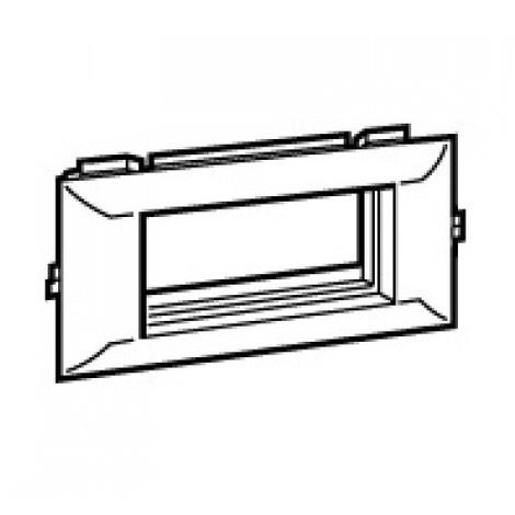 Legrand 030437 - Support mosaïque pour canaux DLP 130 x 50 - 4 modules - couvercle 55mm