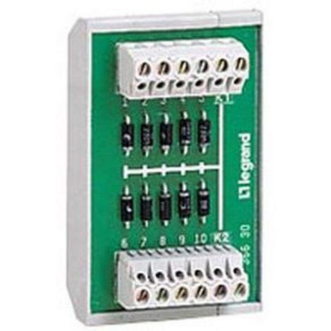 Legrand 036632 Module 10 diodes anode - fixture rail sym or asym