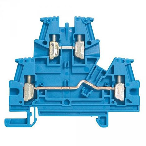 Legrand 037108 Terminal Block Viking 3 to screw - 2 Junctions - 2 floors - blue - pitch 6