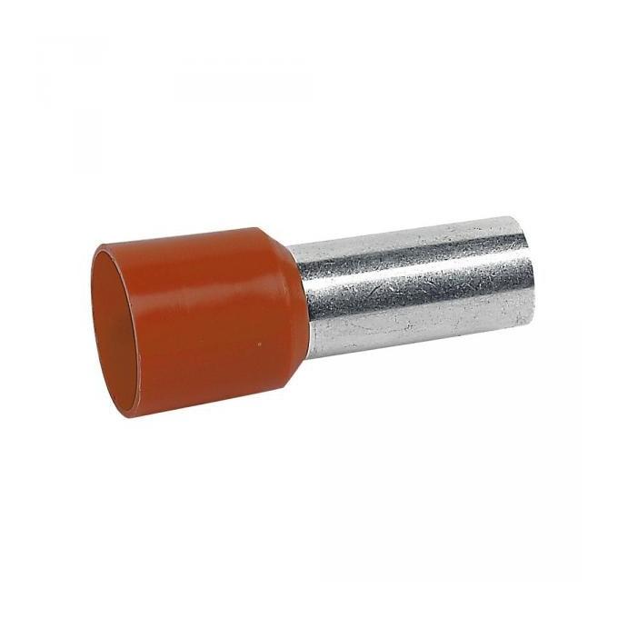 Embouts de cablage 4 mm² orange le lot de  100 pièces