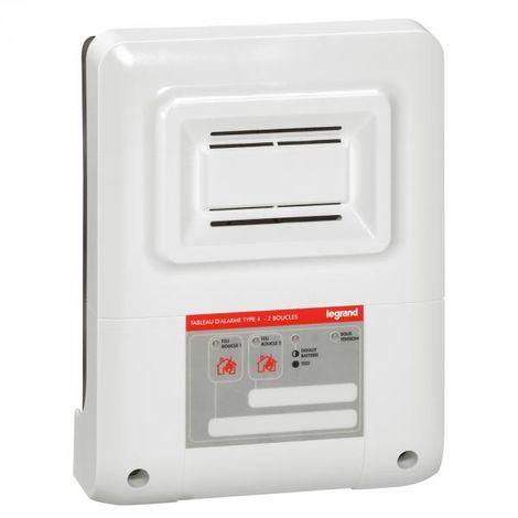 Legrand 040562 Fire alarm panel type 4 - 230 V~ - 2 boucles