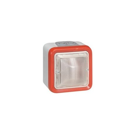 Legrand 040597 diffuser bright Plexo for Fire Alarm - surface-mounted 2 Mod - 40 to 44 mA