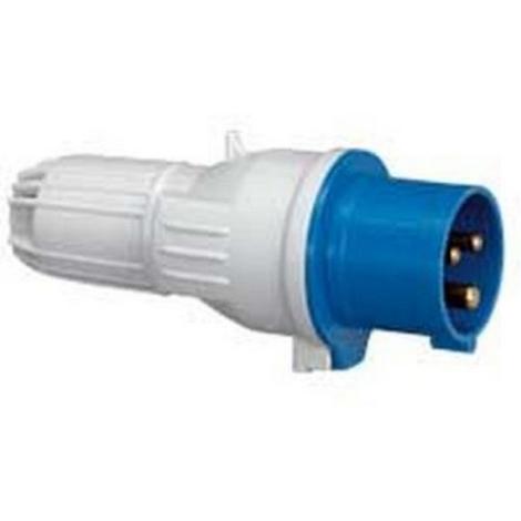 Legrand 057434 - Fiche droite P17 - IP44 - 16 A - 200/250 V~ - 2P+T - Plast