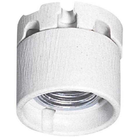 Legrand 060130 - Douille E27 écl public - 4A - 250V - frein culot - jupe prot - porcelaine